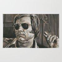 phil jones Area & Throw Rugs featuring Jones by Buddy Owens Paintings