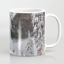 Tamanawas Falls in Winter Coffee Mug