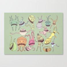 mostriciattoli big family Canvas Print