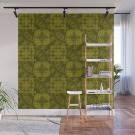 Olive patchwork Wall Mural