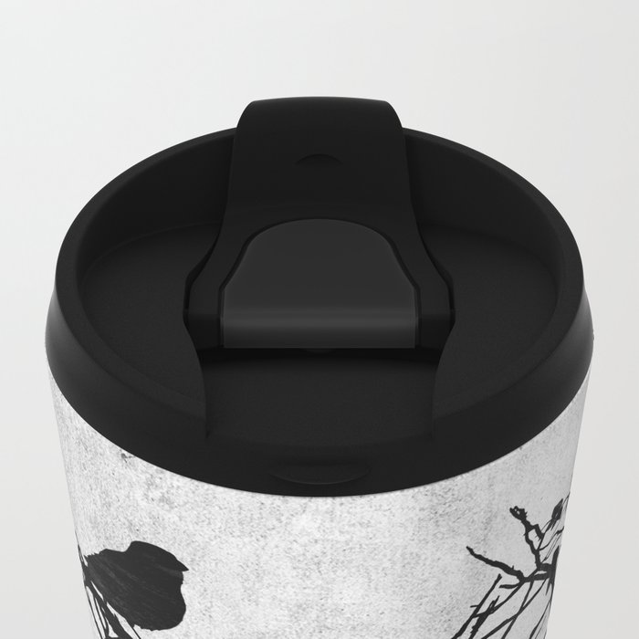 under construction (black and white) Metal Travel Mug