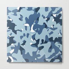 Camouflage Arctic style Metal Print