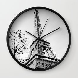 La Vie en Noir et Blanc Wall Clock