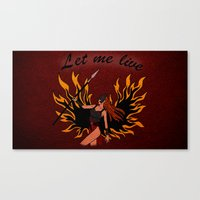resident evil Canvas Prints featuring Resident Evil Claire Redfield Jacket by KeenaKorn