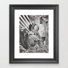 Mon Père Me Guider Une Corde Vers Le Ciel  Framed Art Print