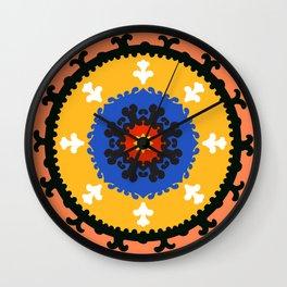 Bold and bright beauty of suzani patterns ver.8 Wall Clock