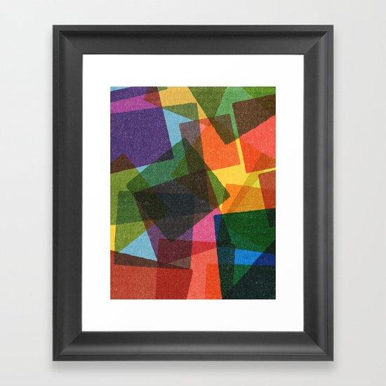 Square Miles. Framed Art Print