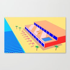 Riviera Hotel Canvas Print