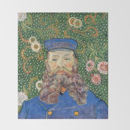 Portrait of the Postman Joseph Roulin by Vincent van Gogh Throw Blanket