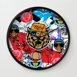 Crazy Heads Hipster Wall Clock