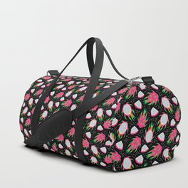 Dragon fruit black Duffle Bag
