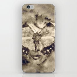 Butterfly lady iPhone Skin