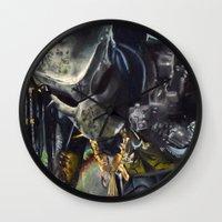 predator Wall Clocks featuring Predator by Patricia Lull
