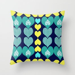 big and small hearts Throw Pillow