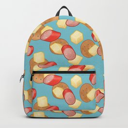 Cheese, Kabana and Jatz Feast in Blue Backpack