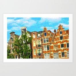 Amsterdam facades Art Print