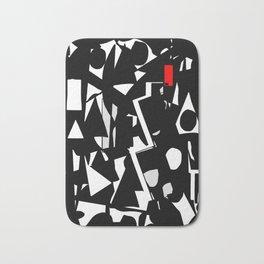 mod black & red Bath Mat