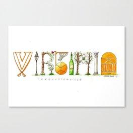 UVA - Charlottesville Canvas Print