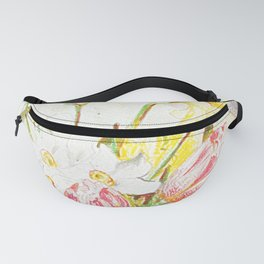 Tulips and Daffodils in a vase Fanny Pack