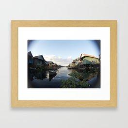 The Venice of Cambodia (Cambodia, Tonle Sap lake & Travel)  Framed Art Print