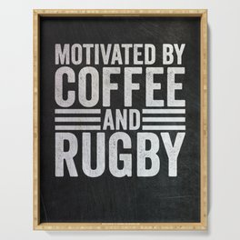 Coffee And Rugby Serving Tray