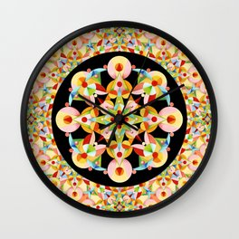 Pastel Carousel Black Circle Wall Clock