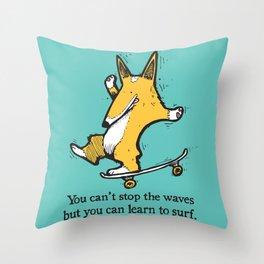 Skate-Corg Throw Pillow