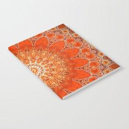 Detailed Orange Boho Mandala Notebook