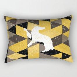 Hufflepuff House Pattern Rectangular Pillow