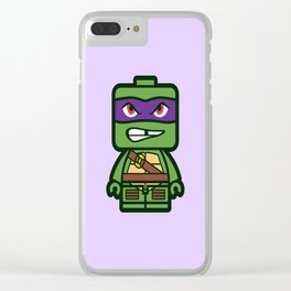 Chibi Donatello Ninja Turtle Clear iPhone Case