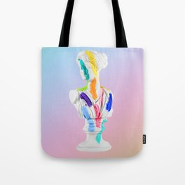 A Grecian Bust With Color Tests (Cotton Candy Gradient Edition) Tote Bag