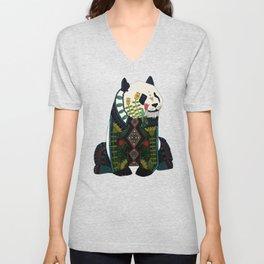 panda silver Unisex V-Neck