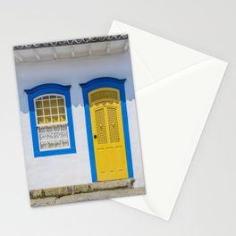 Facade of typical colorful house in Paraty, Rio de Janeiro, Brazil. Stationery Cards