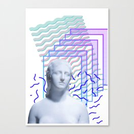 Vaporwave Greek Canvas Print