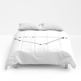 Capricorn Star Sign Black & White Comforters