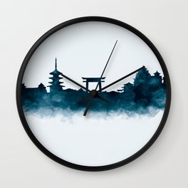 Kyoto Skyline Wall Clock