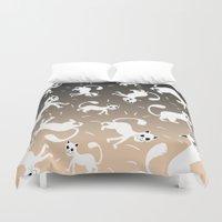 kittens Duvet Covers featuring kittens by Seefirefly