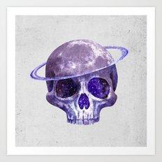 Cosmic Skull Art Print