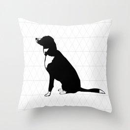 Geometric dog Throw Pillow