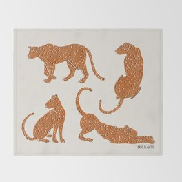 Leopard Block Party Throw Blanket