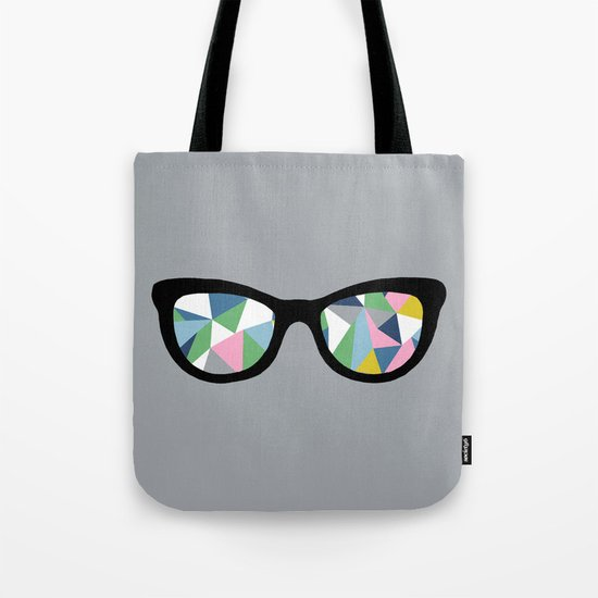Abstract Eyes Tote Bag