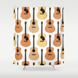 Acoustic Guitars Pattern Shower Curtain