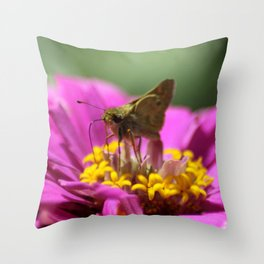 Skipper Butterfly In The Garden Throw Pillow