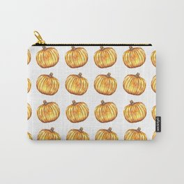Halloween Pumpkin Watercolor Pattern Carry-All Pouch
