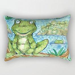 Chillin' Frogs Rectangular Pillow