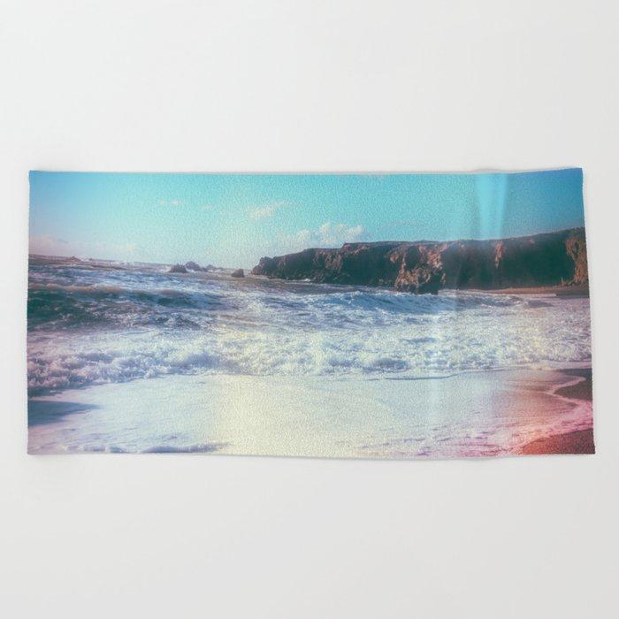 California Sunshine Waves Beach Towel