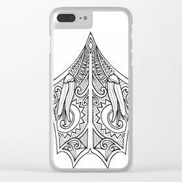 Huia Maori Art Kowhai Flower Clear iPhone Case