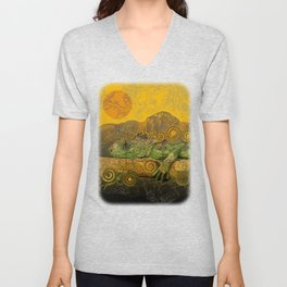 Just Chilling and Dreaming...(Lizard) Unisex V-Neck