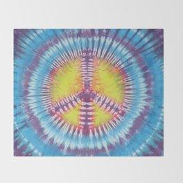 Peace Tie Dye Throw Blanket