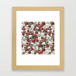 Skulls and Roses or Les Fleurs du Mal Framed Art Print